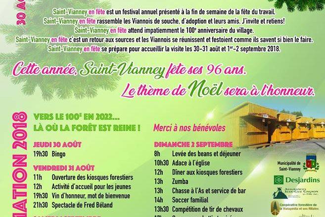Saint-Vianney en fête 30 août au 2 septembre 2018